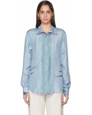 Рубашка с длинным рукавом белая в полоску Emilio Pucci