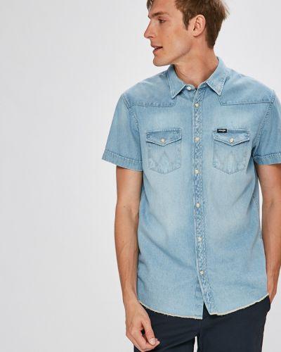 Джинсовая рубашка с карманами тонкая Wrangler