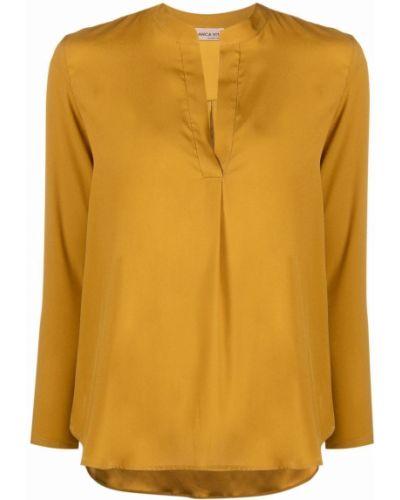 Tunika z długimi rękawami - żółta Blanca Vita