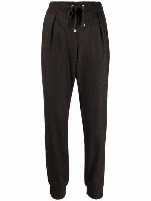 Коричневые шерстяные спортивные брюки Lorena Antoniazzi