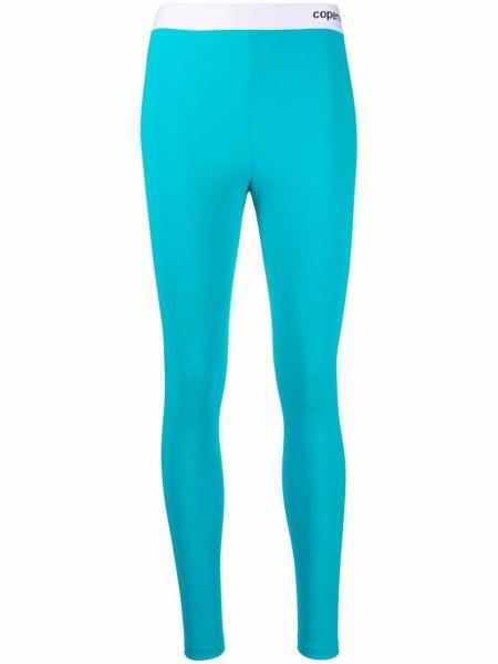 Niebieskie legginsy z printem z nylonu Coperni