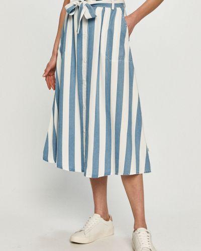 Niebieska spódnica midi rozkloszowana na co dzień Lee