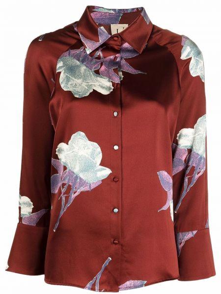 Шелковая рубашка - красная Lautre Chose