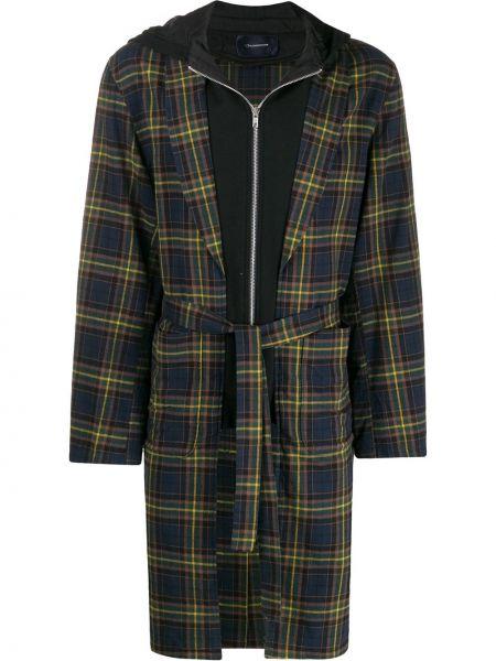 Длинное пальто с воротником на молнии Johnundercover