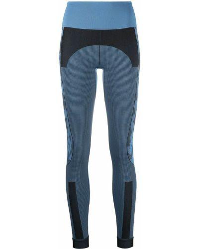 Синие леггинсы со вставками эластичные Adidas By Stella Mccartney