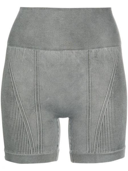 Серые нейлоновые спортивные шорты с завышенной талией Alala