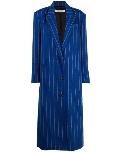Синее пальто из вискозы Philosophy Di Lorenzo Serafini