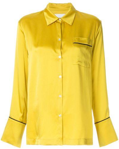 Блузка классическая шелковая Asceno