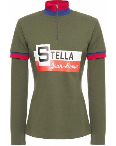 Армейский зеленый трикотажный топ Stella Jean