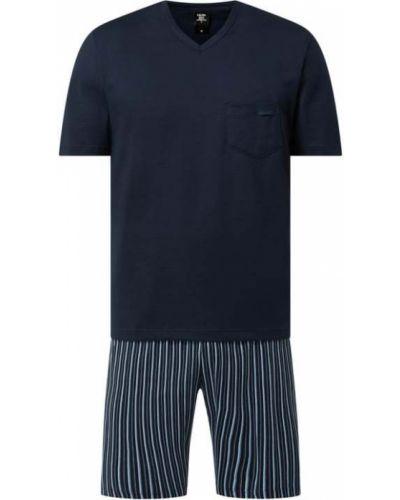Piżamy z szortami bawełniana krótki rękaw w paski Calida