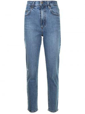 Синие зауженные джинсы с завышенной талией на молнии Nobody Denim