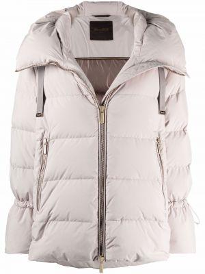 Белая пуховая куртка Moorer