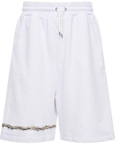 Białe szorty z haftem bawełniane Ihs