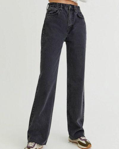 Черные зимние джинсы Pull&bear