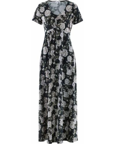Черное платье макси Bonprix