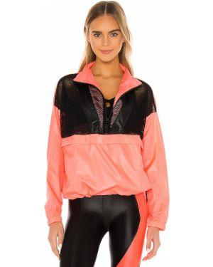 Czarna kurtka sportowa z printem Koral