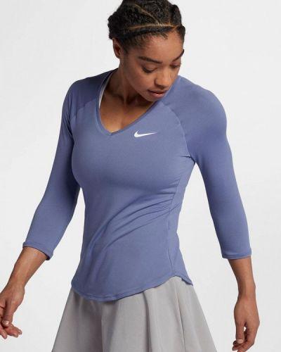 Синий спортивный лонгслив Nike
