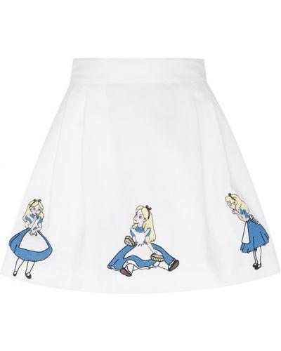 Хлопковая белая юбка с вышивкой Olympia Le Tan
