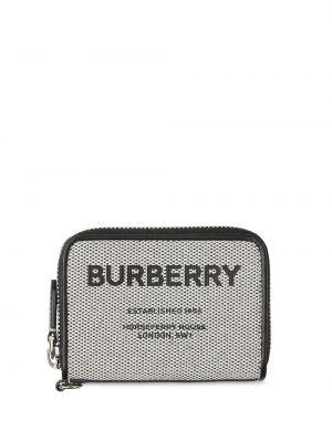Czarny portfel skórzany z printem Burberry
