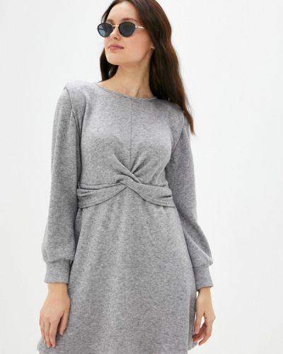 Серое трикотажное вязаное платье Rinascimento