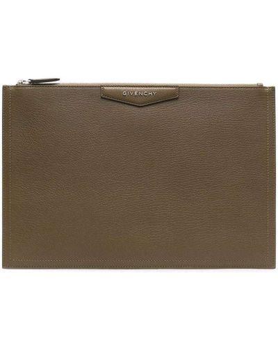 Zielona kopertówka srebrna Givenchy
