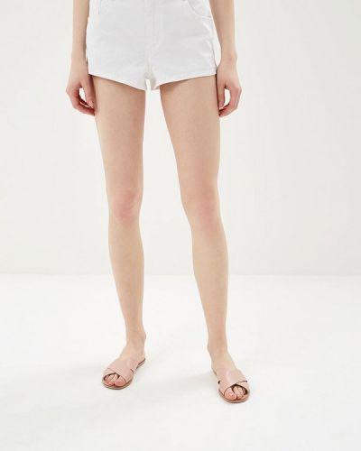 Белые джинсовые шорты со стразами Sh