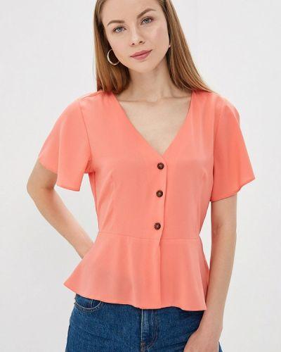 Блузка с коротким рукавом розовая весенний Brave Soul
