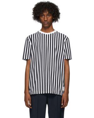 Koszula krótkie z krótkim rękawem z logo z paskami Thom Browne
