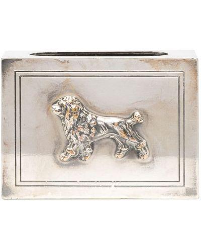 Серебряный футляр для очков прямоугольный Christian Dior