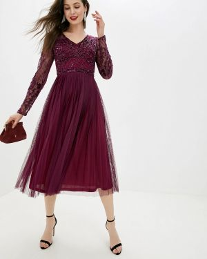 Вечернее платье бордовый индийский Frock And Frill