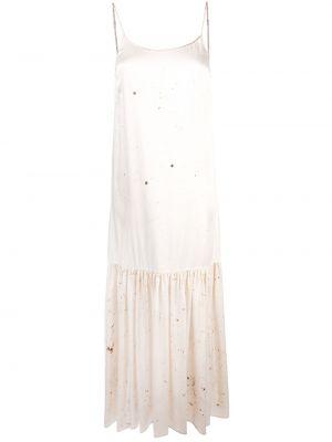 Белое платье с вырезом Uma Wang