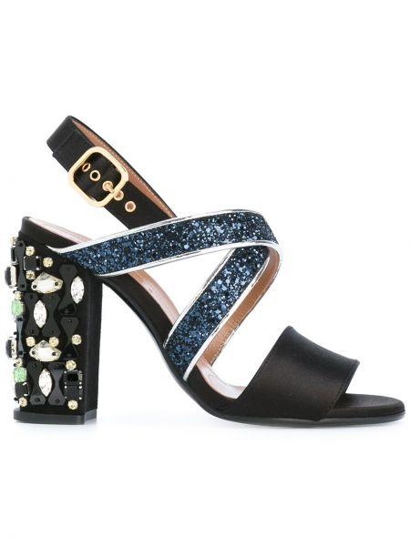 Туфли на каблуке кожаные с открытой пяткой Marni
