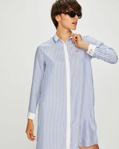 Платье мини на пуговицах свободного кроя U.s. Polo