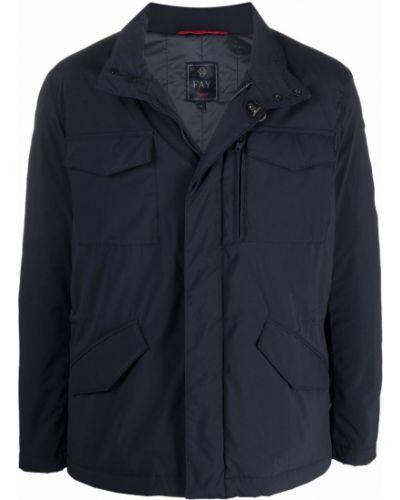 Синяя куртка с карманами Fay