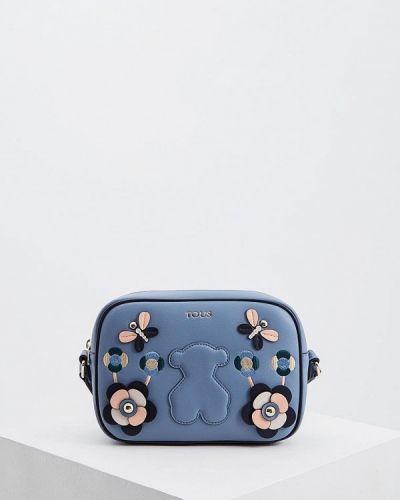 Кожаный сумка через плечо голубой Tous