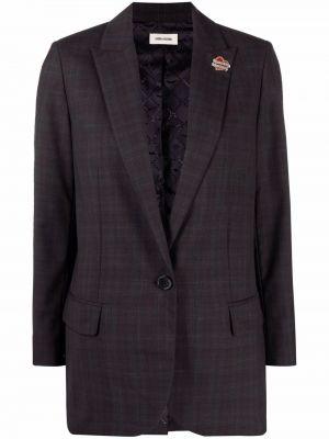 Серый пиджак из вискозы Zadig&voltaire