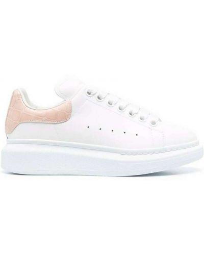 Buty sportowe skorzane - różowe Alexander Mcqueen