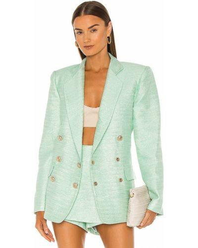 Классический пиджак твидовый с карманами мятный Bronx And Banco