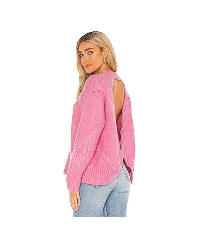 Открытый розовый вязаный свитер For Love & Lemons