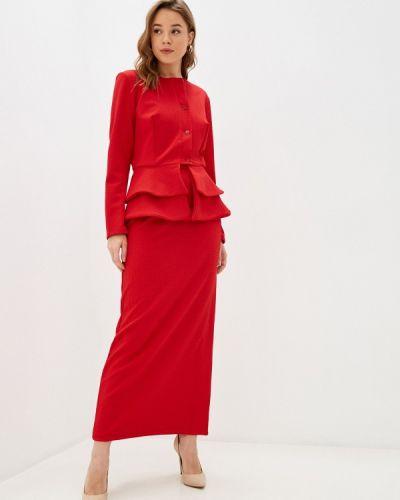Красный костюмный юбочный костюм Sahera Rahmani