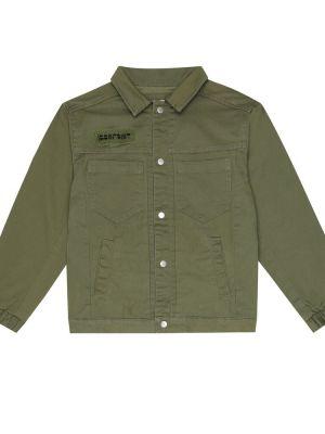 Zielona kurtka bawełniana Bonpoint