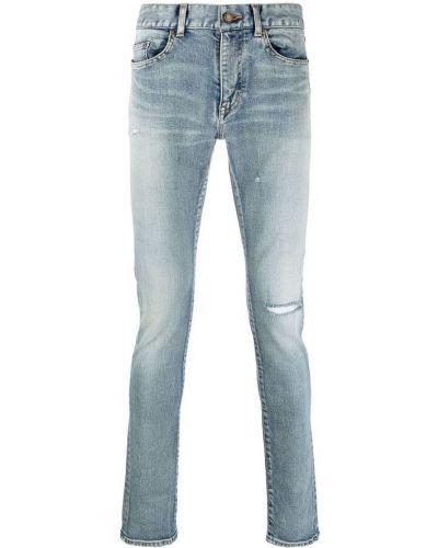 Mom jeans w paski - szare Saint Laurent