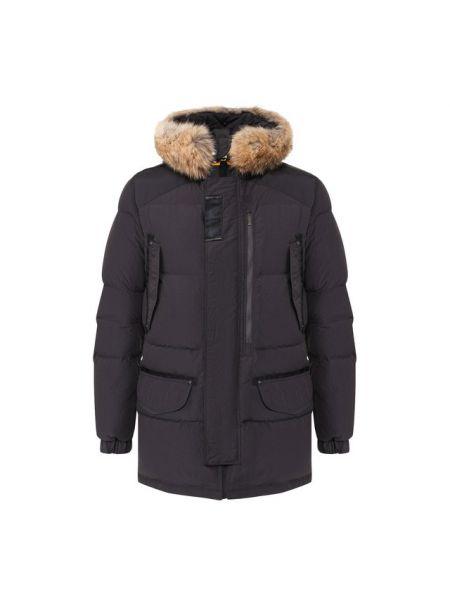 Серая куртка с капюшоном с декоративной отделкой с карманами на кнопках Parajumpers