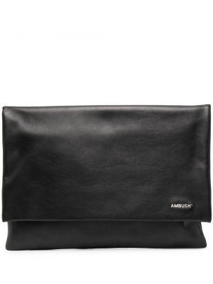 Czarna torebka na łańcuszku skórzana Ambush