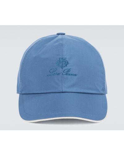 Бейсбольная синяя бейсболка с вышивкой Loro Piana