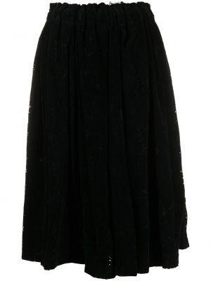 Черная с завышенной талией плиссированная юбка Comme Des Garçons
