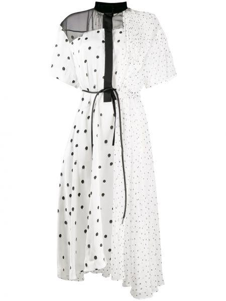 Платье миди платье-рубашка в горошек Sacai
