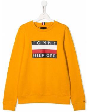Свитшот с логотипом желтый Tommy Hilfiger