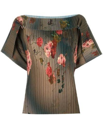 Блузка зеленый с цветочным принтом Antonio Marras