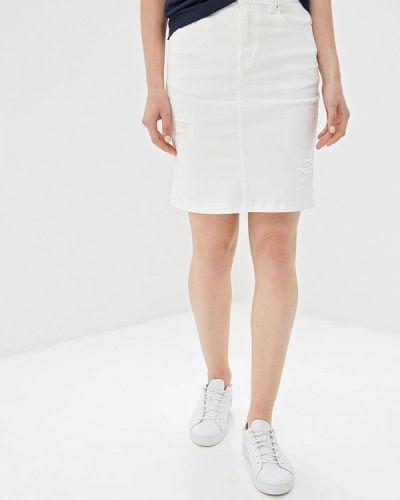 Джинсовая юбка весенняя белая Zarina